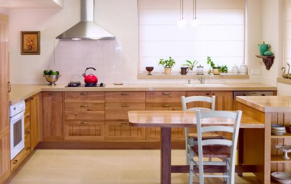 מטבח מעץ מלא – אלון לבן