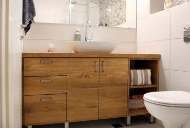 ארון אמבט עץ
